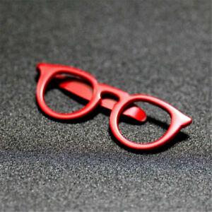 Vintage Glasses Shape Tie Clip Bar Necktie Pin Clamp Mens Accessories Party Gift