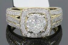 10K Oro Giallo 1.10 Carati Vera Donna Sposa Matrimonio Anello di Fidanzamento