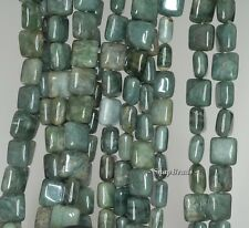 8MM  CANADA JADE GEMSTONE GREEN SQUARE 8X8MM LOOSE BEADS 15.5""