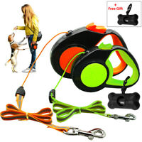 Dog Retractable Leash Reflective Nylon Pet Walking Lead with Garbage Bag Yorkie