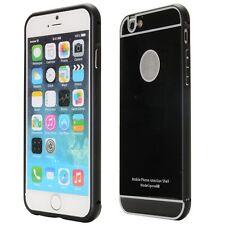 Pare-chocs en aluminium 2 éléménts avec protection Noir pour Apple iPhone 6 4.7