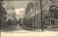 Richmond Hill Long Island NY Washington Ave c1905 Postcard jrf