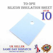 10x TRANSISTOR Isolamento Foglio in silicone TO-3PII Isolante Termico Pad 20x25mm