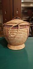 Rare Saudi Arabian Vintage Handwoven Bedouin Date Basket