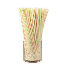 10pcs parti pailles flexibles en plastique souple jetables pailles Noir 26 cm
