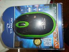Titanum Vulture Kabellose Computer-Maus mit USB-Funkempfänger - Schwarz/Grün (TM116G)