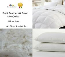Luxury Hotel Quality Duck Feather & Down Quilts 15 Tog Extra Warm Duvet All Size