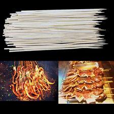 1 set Bamboo skewers Useful Kabob Shish Fondue Grill Wooden Sticks BBQ Tools