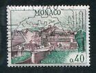 Timbre MONACO oblitéré YT n° 545A : Vue Aérienne du Palais Princier - 1960