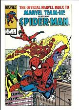 THE OFFICIAL MARVEL INDEX TO MARVEL TEAM-UP # 1 (JAN 1986), VF/NM