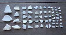 60 Pcs White Pottery Crockery China Porcelain Sea Glass Art Mosaic Crafts  #60