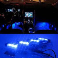 4 X LED 12V Car Auto Interior Atmosphere Light Decor Lamp Blue LED Sales