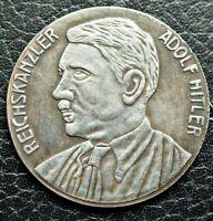 GERMAN COMMEMORATIVE COIN THIRD REICH WW2 ADOLF HITLER 1933 REICHSKANZLER FUHRER