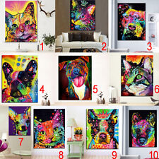 Modern Unframed Dog Cat Canvas Oil Painting Print Wall Art Hanging Posters