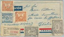 74467 - PARAGUAY - POSTAL HISTORY - REGISTERED  COVER to ITALY 1937 - NICE!!