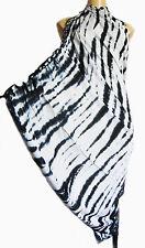 Blue/white tie-dye beach wrap, scarf, sarong/pareo swimwear cover up SUMMER new