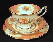C1949 ENGLISH ROYAL ALBERT TRIO LADY CARLYLE WIDE BREAKFAST CUP PINK COLOUR.