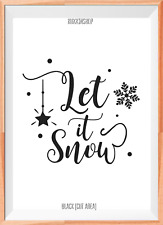 Let it Snow Christmas A4 Mylar Reusable Stencil Airbrush Painting Art Craft DIY