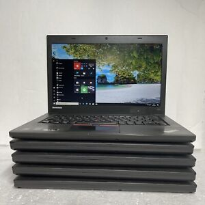 "Lenovo ThinkPad T450 14"" Laptop Intel Core i5-5th Gen @2.3GHz 8GB 256SSD Win10"