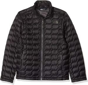 The North Face Boys Long Sleeves Stand Up Collared Black ThermoBall Jacket Sz S