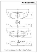 Disc Brake Pad Set-Disc Rear Dash 4 Brake CD658