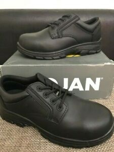 Trojan Safety Shoes Black Size 8 Non Metallic Safety Shoe non Slip Boxed
