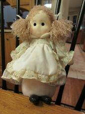 """Vintage Russ Berrie """"Rebecca"""" Girl Doll Plush #662"""