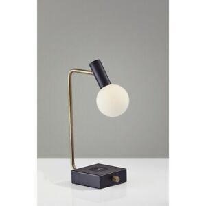 Adesso Windsor Charge LED Desk Lamp, Matte Black - 3214-01