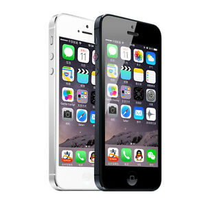 "Original Apple iPhone 5/5G - iOS 16GB 4G Unlocked Smartphone 4.0"" - White/Black"
