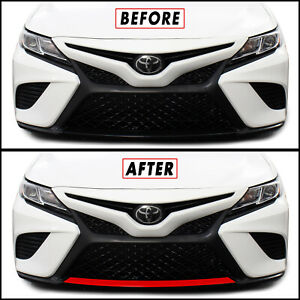 Blackout Redout Vinyl Overlay for 2018-21 Toyota Camry SE XSE Bumper Lower Lip