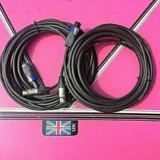 (pair) bose 802 10x meter Speakon to XLR Speaker leads 2.5mm cores heavy duty
