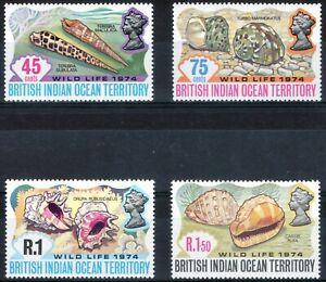 British Indian Ocean Territory 1974 QEII Wild Life 2nd series set of 4 MNH