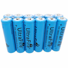 12X 18650 5000mAh 3.7V Li-ion Rechargeable Battery for Flashlight Doorbell Torch