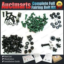 For Kawasaki ZX-14R 06 07 08 09 10 Complete Full Fairing Bolt Kit Green GA