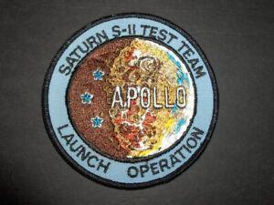 Vintage Original NASA Apollo Saturn S-II Test Team Launch Operations Patch