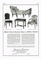 1920's BIG VINTAGE Jacques Bodart New York Antique Furniture Photo Print AD b