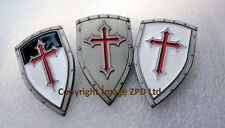 D3 x Knights Templar Shields Crusader St George Crusade Cross Pin Badge Medieval