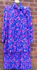 VIntage TRICOVILLLE floral Chiffon dress Size 16