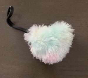 Betsey Johnson fuzzy fluffy rainbow heart charm new