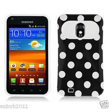 Sprint Samsung Galaxy S2 4G D710 Hybrid Case Skin Pastel Cover Black Whtie Dots