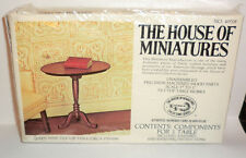 """House of Miniatures Queen Anne Tilt Top Table Packaged 1"""" to 1' Scale Wood"""