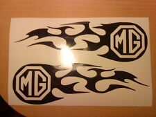 LARGE mg tribal flames vinyl car stickers side graphics decals fun racing stock