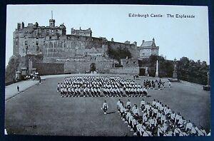 OLD POSTCARD: EDINBURGH CASTLE - THE ESPLANADE.