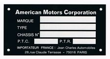 Plaque constructeur JEEP AMC - plaque constructeur JEEP WILLYS