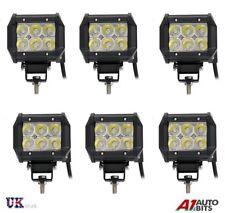 6 piezas 18w LED Luz de trabajo 1800lm Foco 12v 24v BArco ATV MOTO ENVÍO SUV
