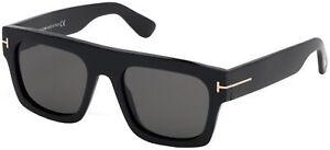 Tom Ford FAUSTO FT 0711 Black/Smoke 53/20/145 unisex Sunglasses