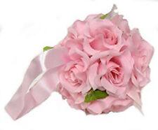 12 FLOWER BALLS ~ PINK ~ Kissing Ball Pomander Wedding Flowers Pew Bows Decor