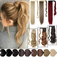 8A Human Hair Ponytail Remy Clip In Hair Extensions Wrap Silky Straight Hair