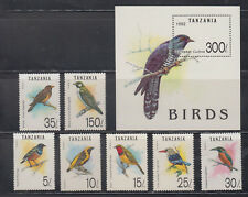Tanzania  Stamps 1992 Birds Complete set Mint Never hinged SCV $ 15.35