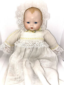 Beautiful Antique German Horsman Collis Doll With Original Clothing As Is